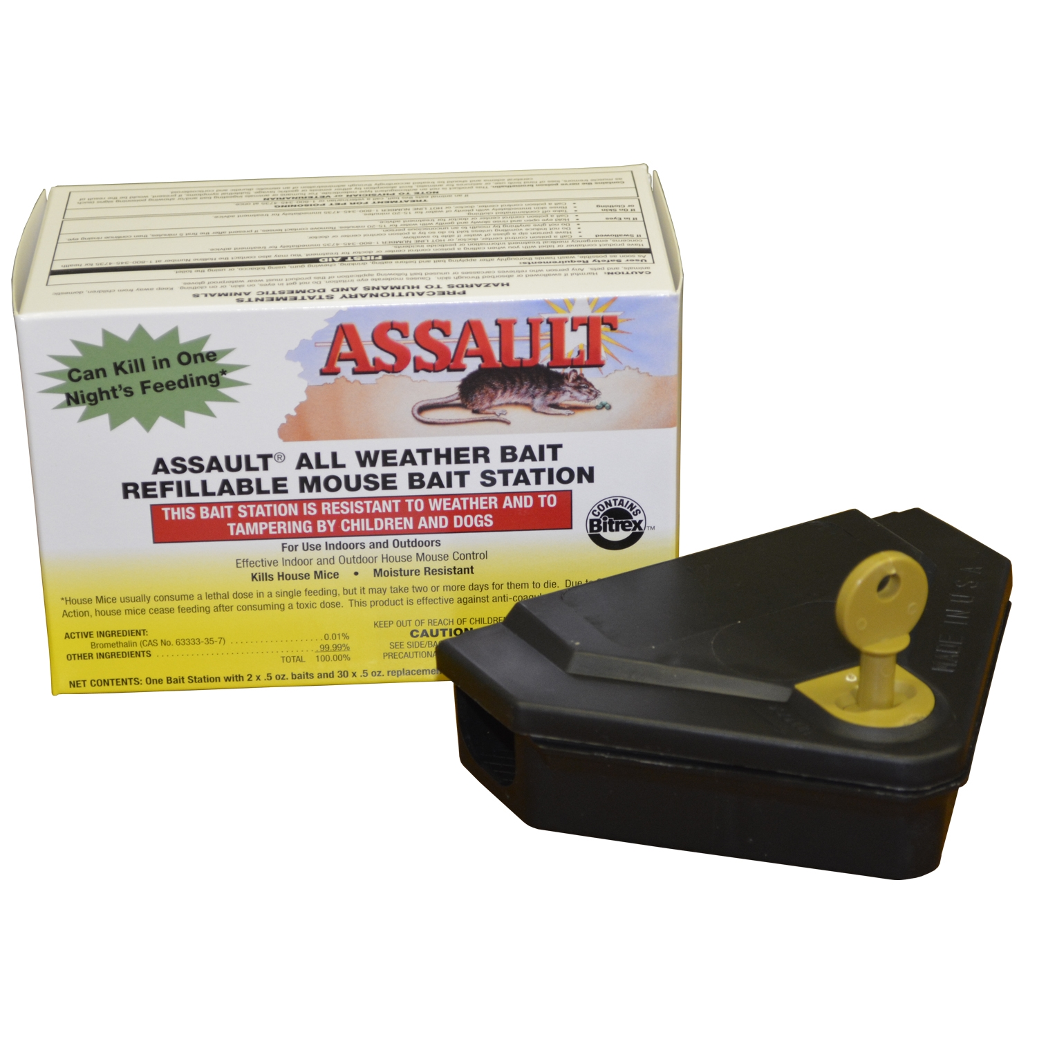 Assault Refillable Mouse Bait Station