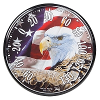 Patriotic Eagle Round Thermometer